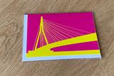 Erasmusbrug - Dubbele Kaart (Kleur) van WUUDY_