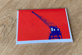 Entrepothaven kaart met enveloppe