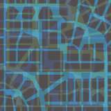 Urban Pattern - blue