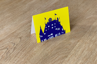 Het Witte Huis - Folded Card (color) by WUUDY