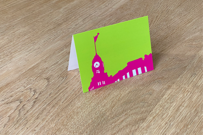 Hotel New York - Folded Card (color) by WUUDY