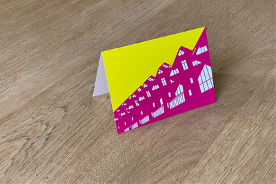 Kubuswoningen - Folded Card (color) by WUUDY