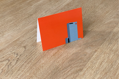 Delftse Poort - Folded Card (color) by WUUDY