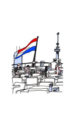 SS Rotterdam - Art Card van ikRotterdam
