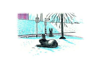 Rabbit sculpture - Art Card by ikRotterdam