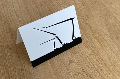 Schouwburgplein - Folded Card by WUUDY
