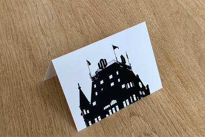 Het Witte Huis - Folded Card by WUUDY
