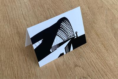 Van Brienenoordbrug - Folded Card by WUUDY