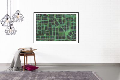 Green Urban Pattern (2021), Jack Hoogeboom (Limited Edition)