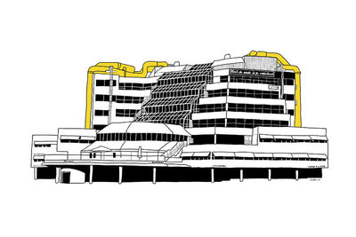 Bibliotheek (2014), ikRotterdam (Art Print)