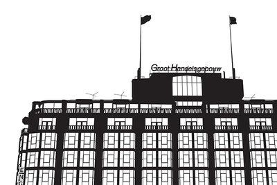 Groothandelsgebouw (2014), Wuudy (Art Print)