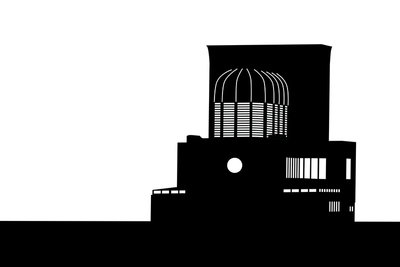 Maastunnel Ventilatiegebouw (2015), Wuudy (Art Print)