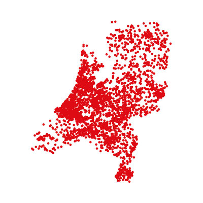 Greetings from Holland - dots (2014), Jack Hoogeboom (Art Print)