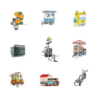 Rotterdam Street Vendors (2012), ikRotterdam (Art Print)