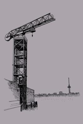 Port Crane (2013), ikRotterdam (Art Print)