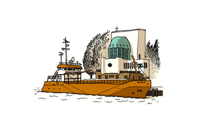 Schip: Emma (2013), ikRotterdam (Art Print)