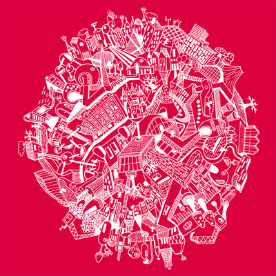 Around the world - pink (2014), Nora Rittmüller (Art Print)