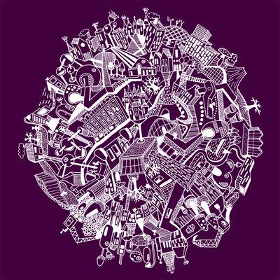 Around the world - purple (2014), Nora Rittmüller (Art Print)