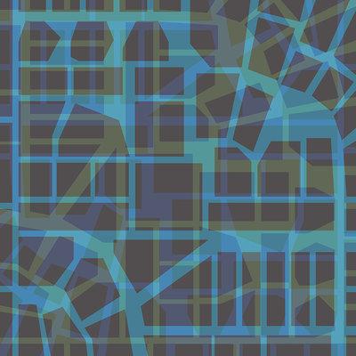 Urban Pattern – blue (2014), Jack Hoogeboom (Art Print)