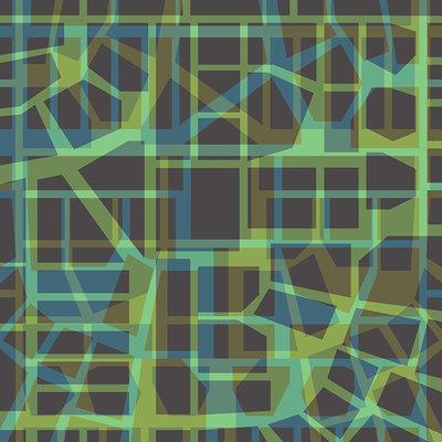 Urban Pattern – green (2014), Jack Hoogeboom (Art Print)