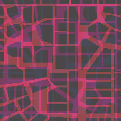 Urban Pattern – red (2014), Jack Hoogeboom (Art Print)