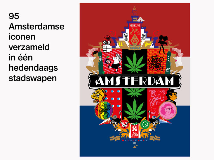 Contemporary City Crest for Amsterdam