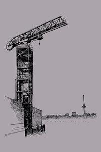 Port Crane - Art Card van ikRotterdam