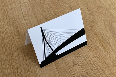 Erasmusbrug - Folded Card by WUUDY